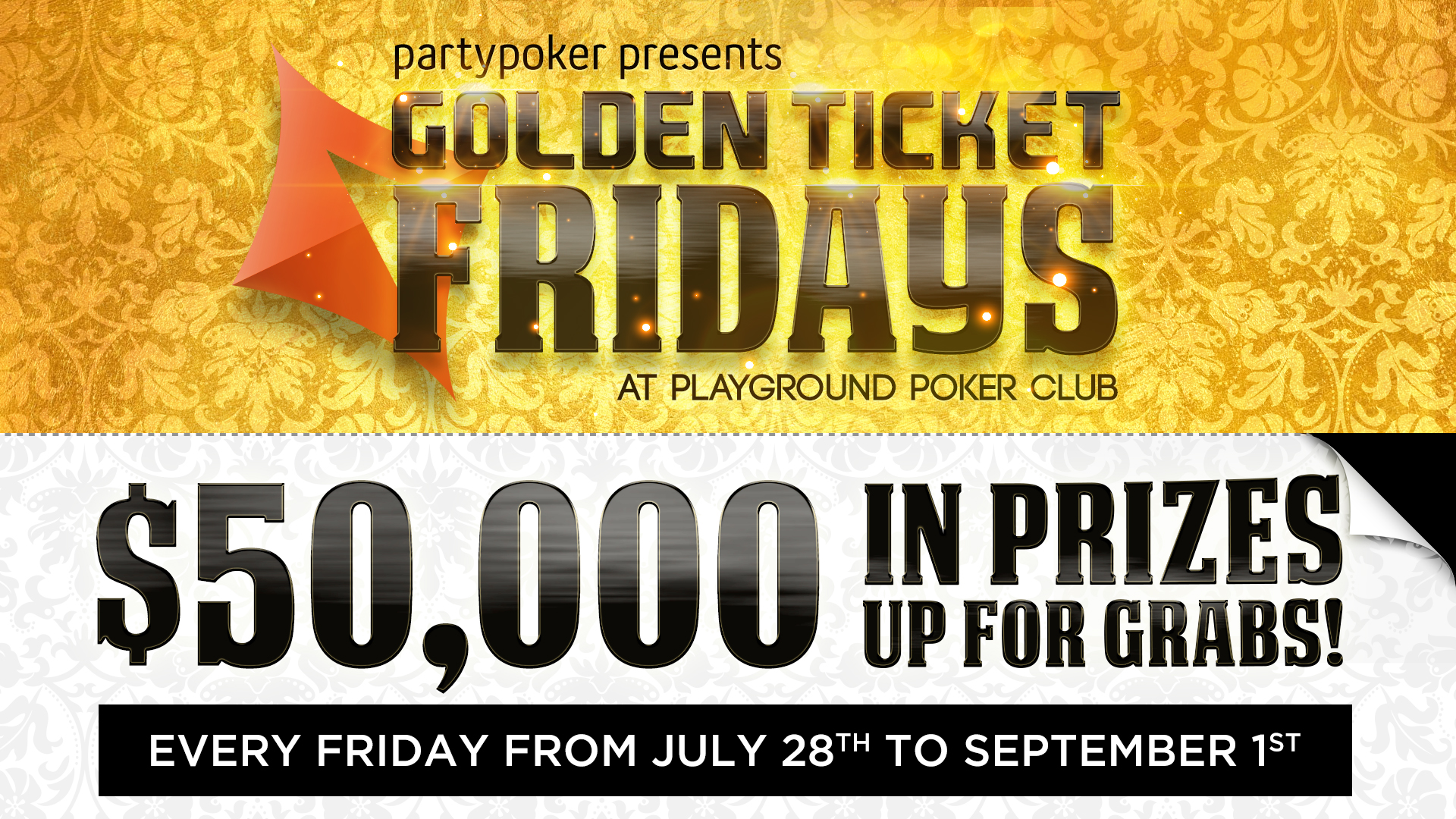 Golden Ticket Fridays – over $50,000 in Prizes up for Grabs!