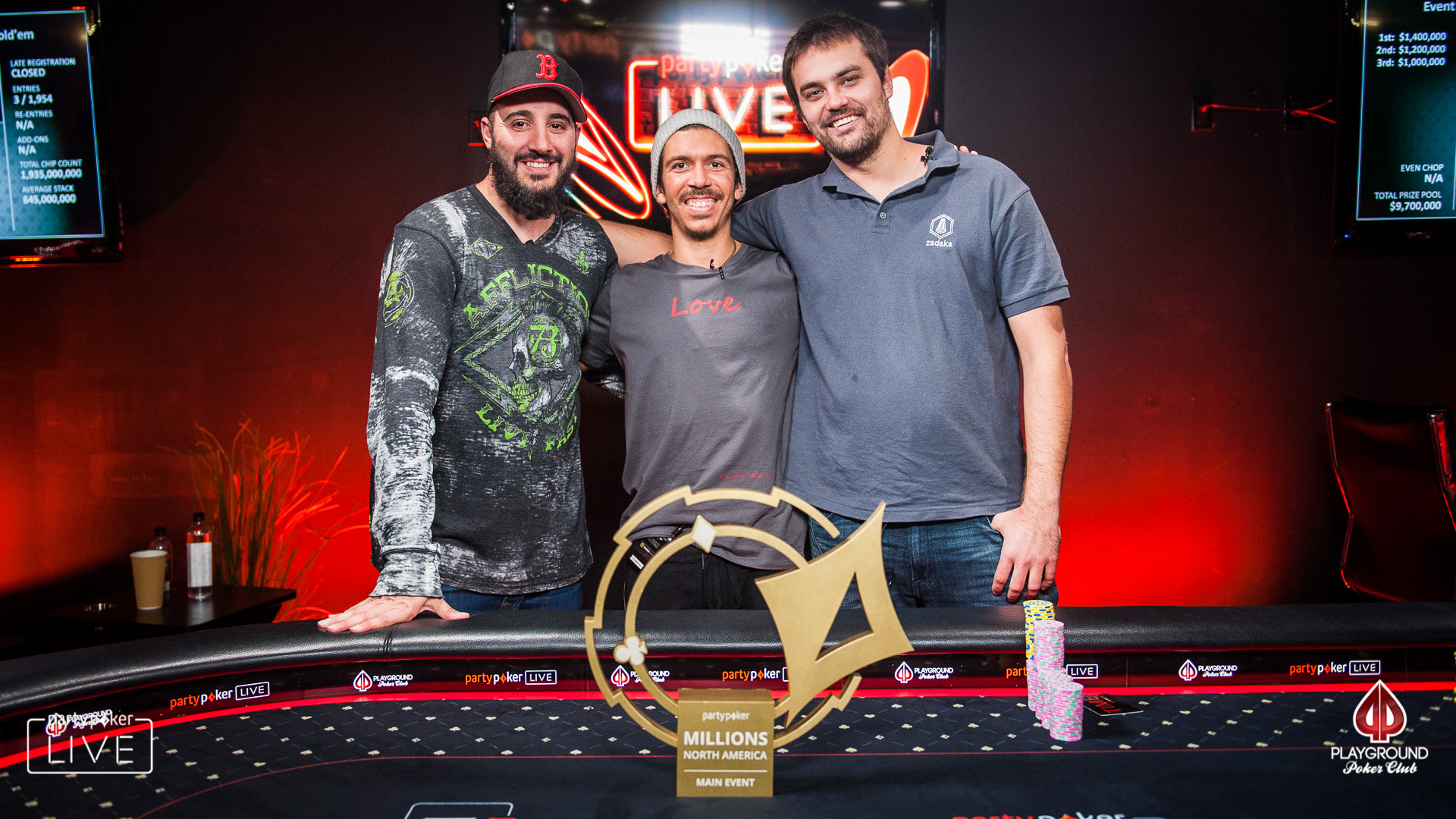 The final three in the MILLIONS Main Event!