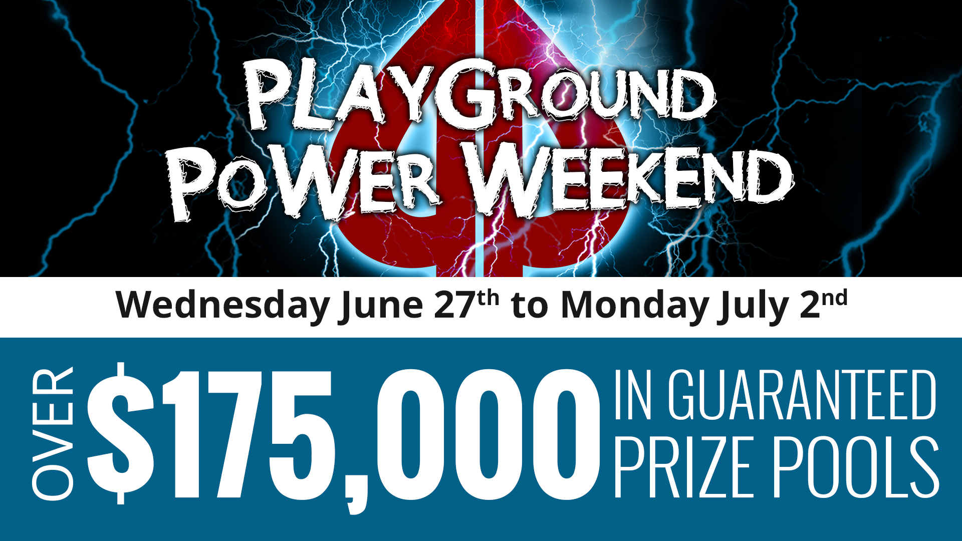 Coming in June – an all new Playground Power Weekend!