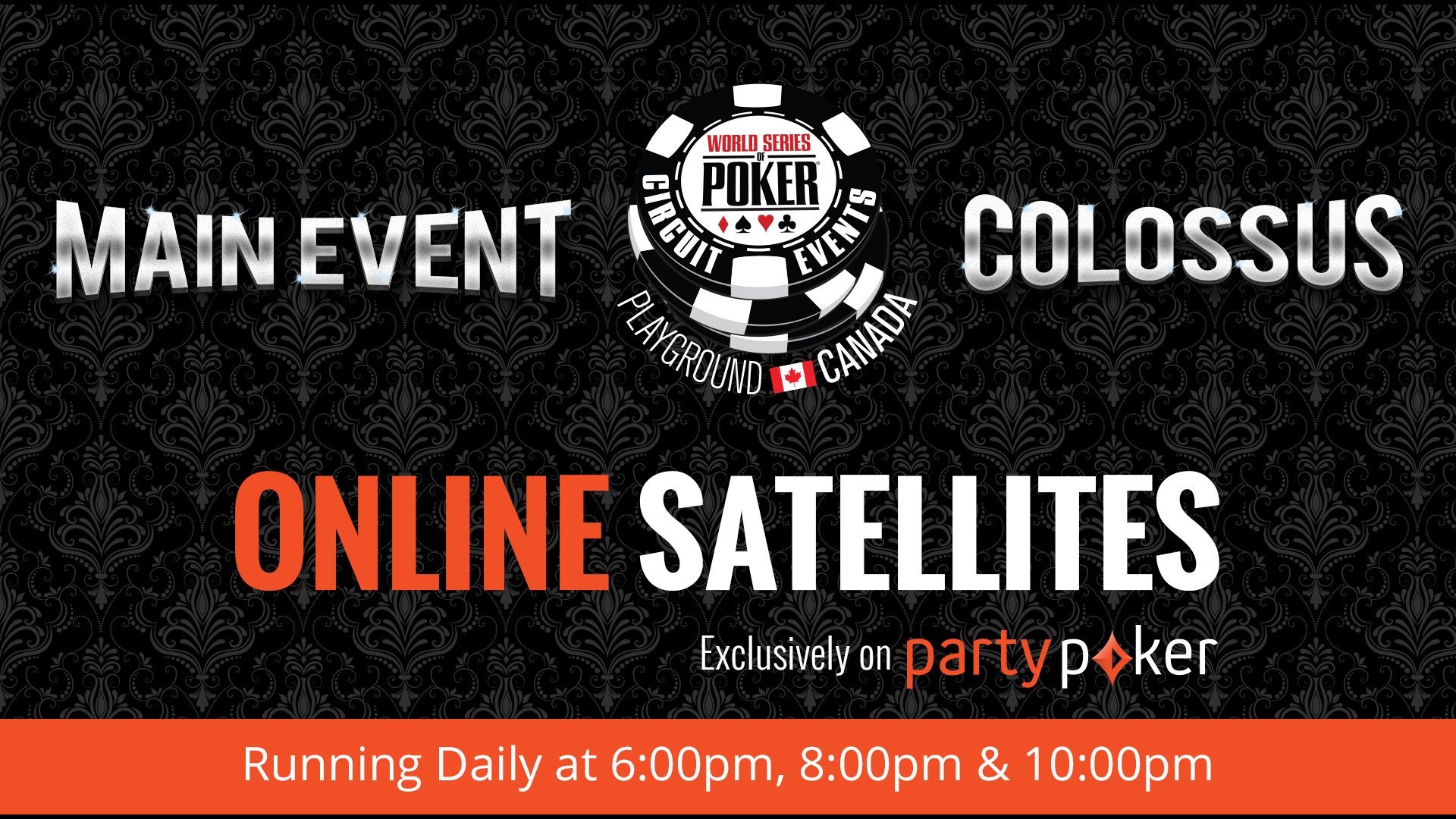 Qualify for the WSOP-C Colossus and Main Event on partypoker