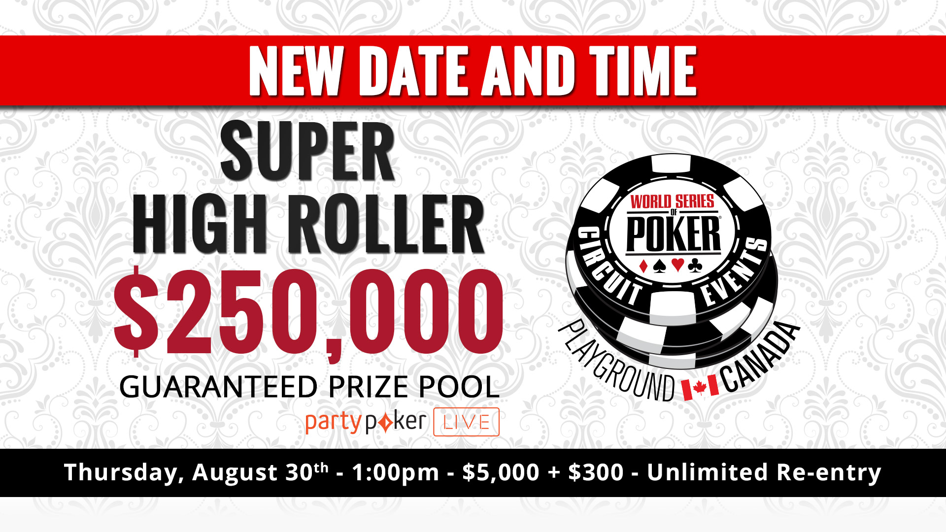 Super High Roller postponed