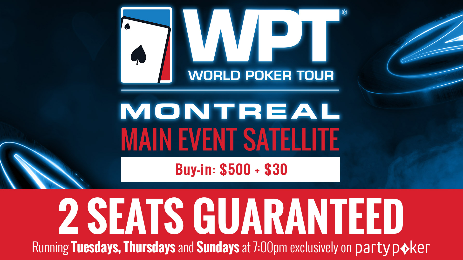 NEW – Direct satellites to the WPT Montreal on partypoker!