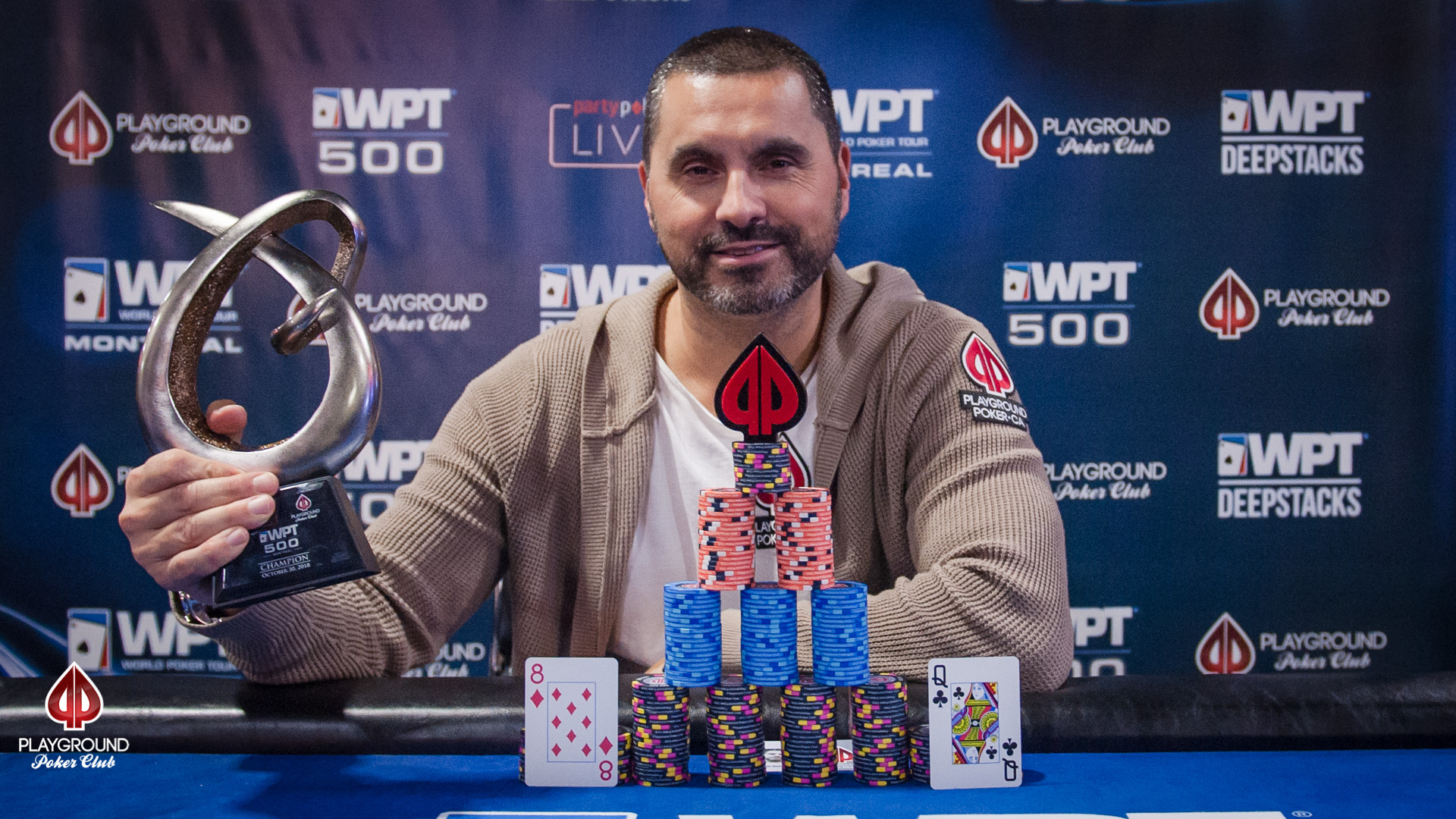 Miguel Goncalo claims the WPT500 Trophy