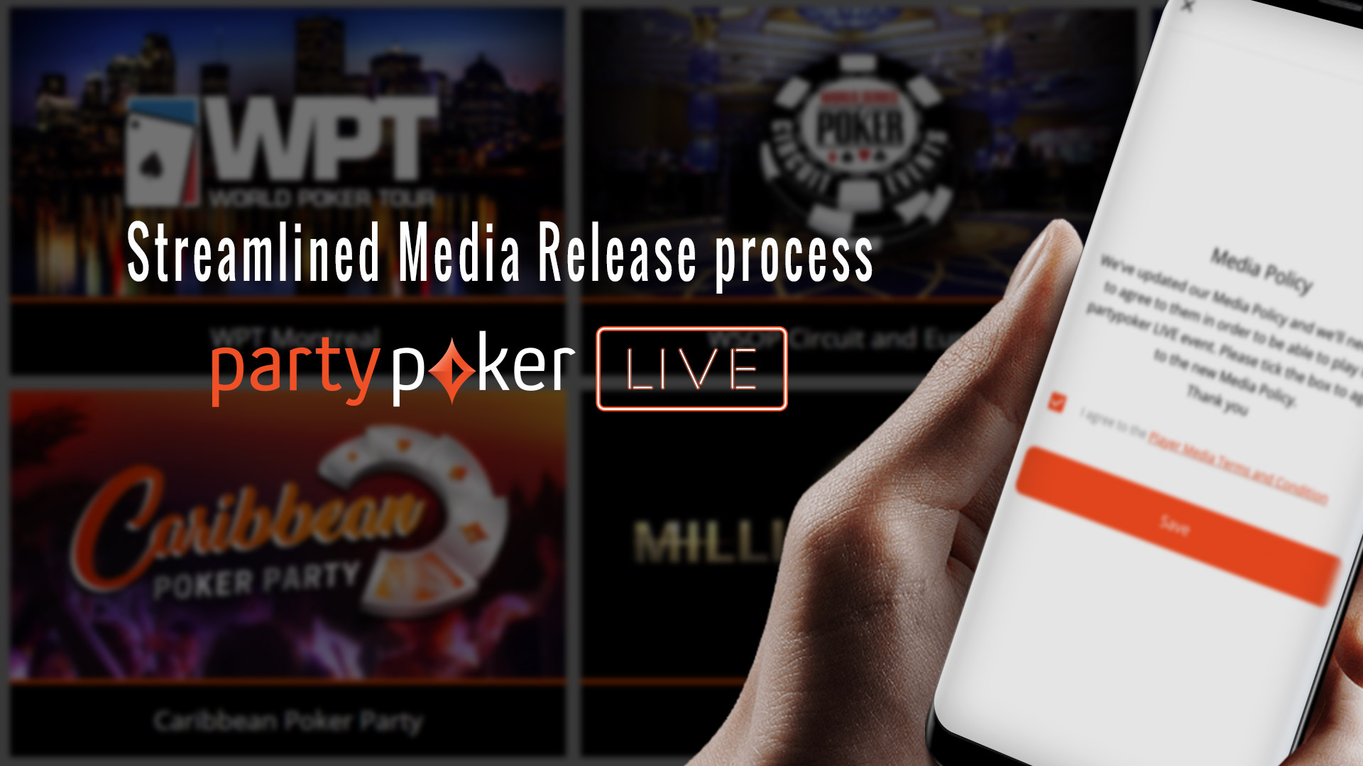 Streamlined Media Release process for partypoker LIVE Events