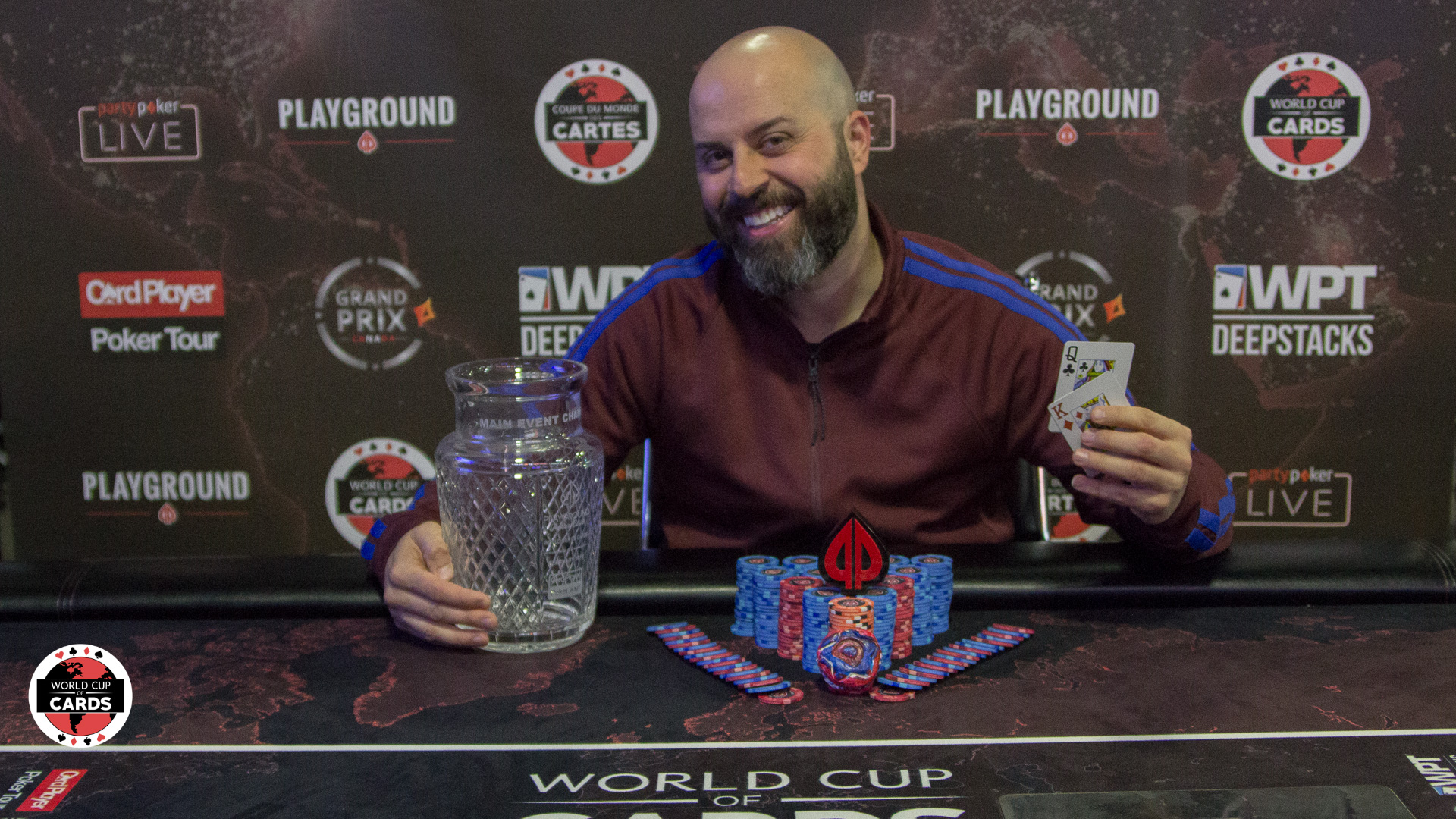 Le champion de l'Évènement card Player poker Tour: Danny Ibrahim!