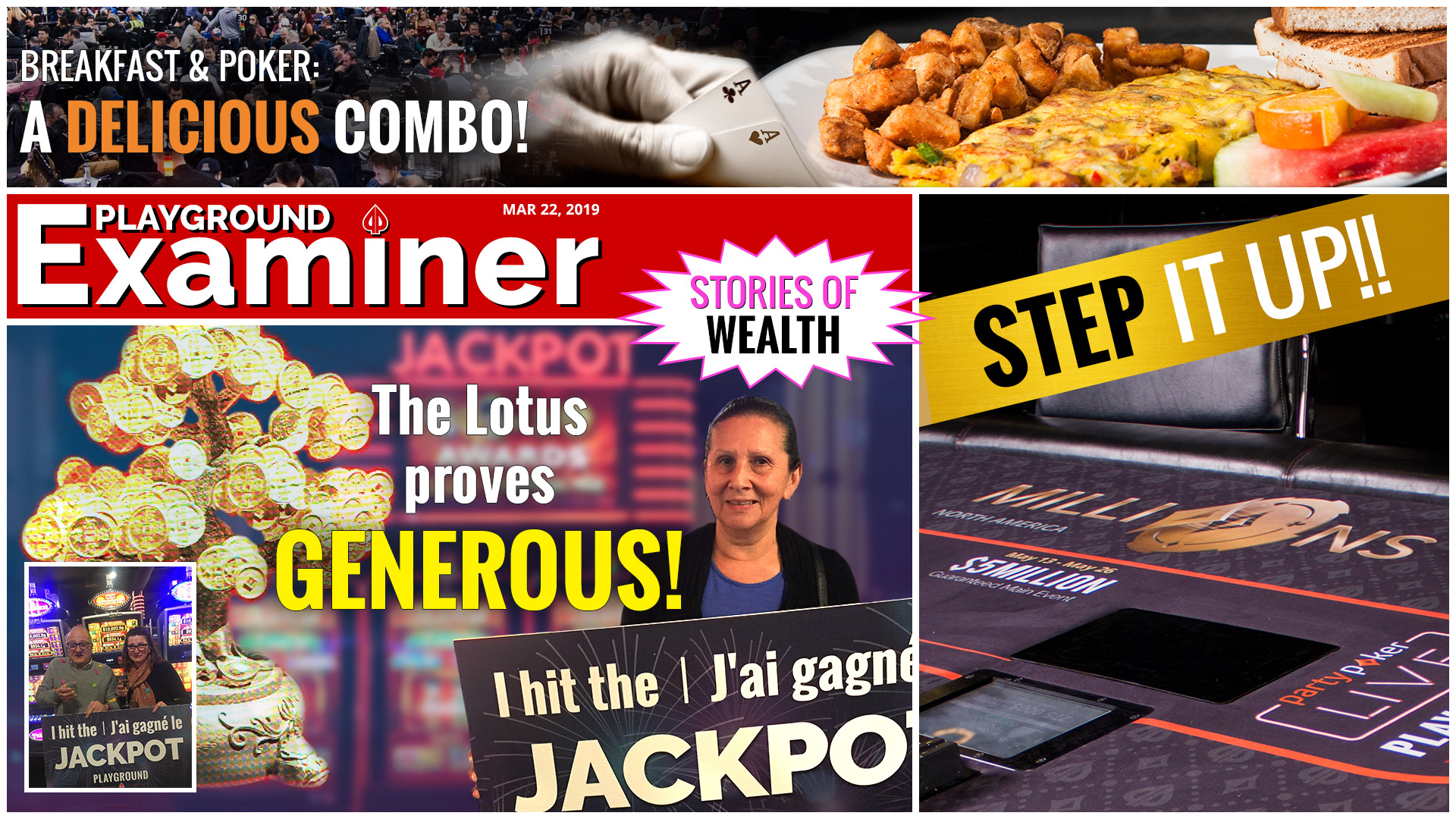 Jackpots, STEPS, and more!