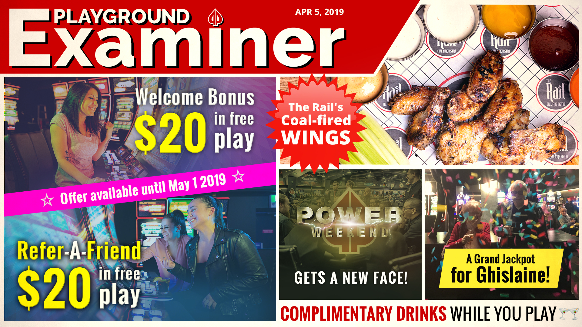Playground, your full-service entertainment destination!