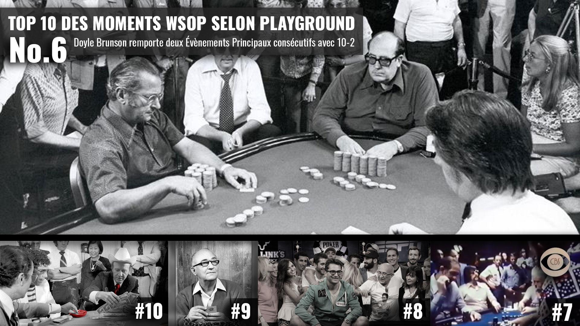 Les meilleurs moments de la riche histoire du World Series of Poker