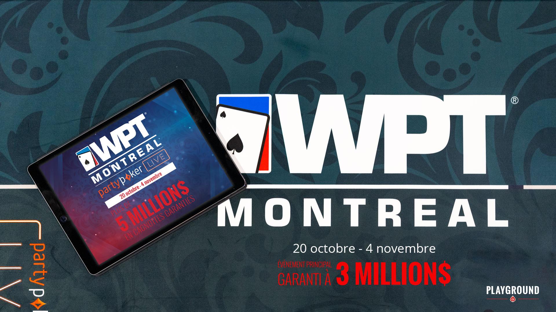 L'Évènement Principal du WPT Montréal Commence ce Week-end sur partypoker