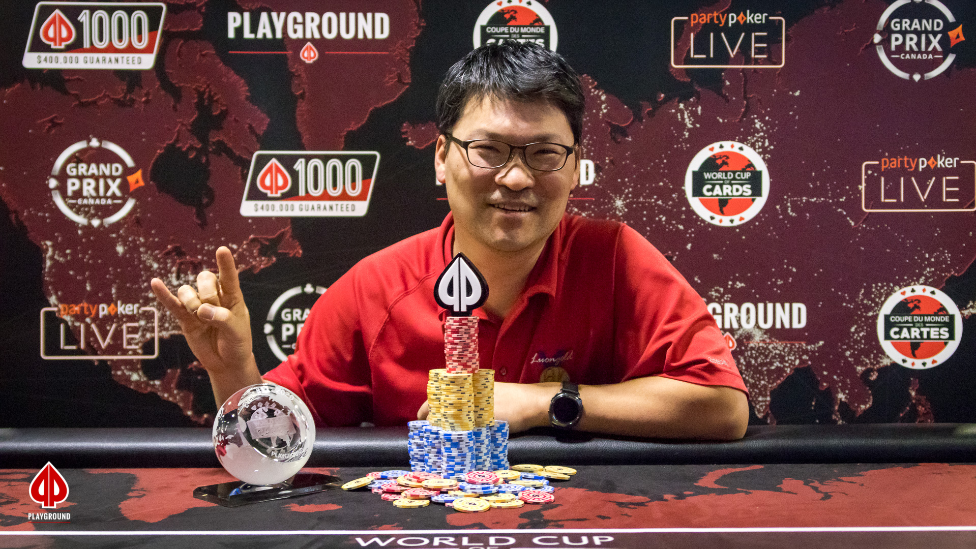 $100 + $10 PL Omaha Re-entry Champion: Young Min Kim
