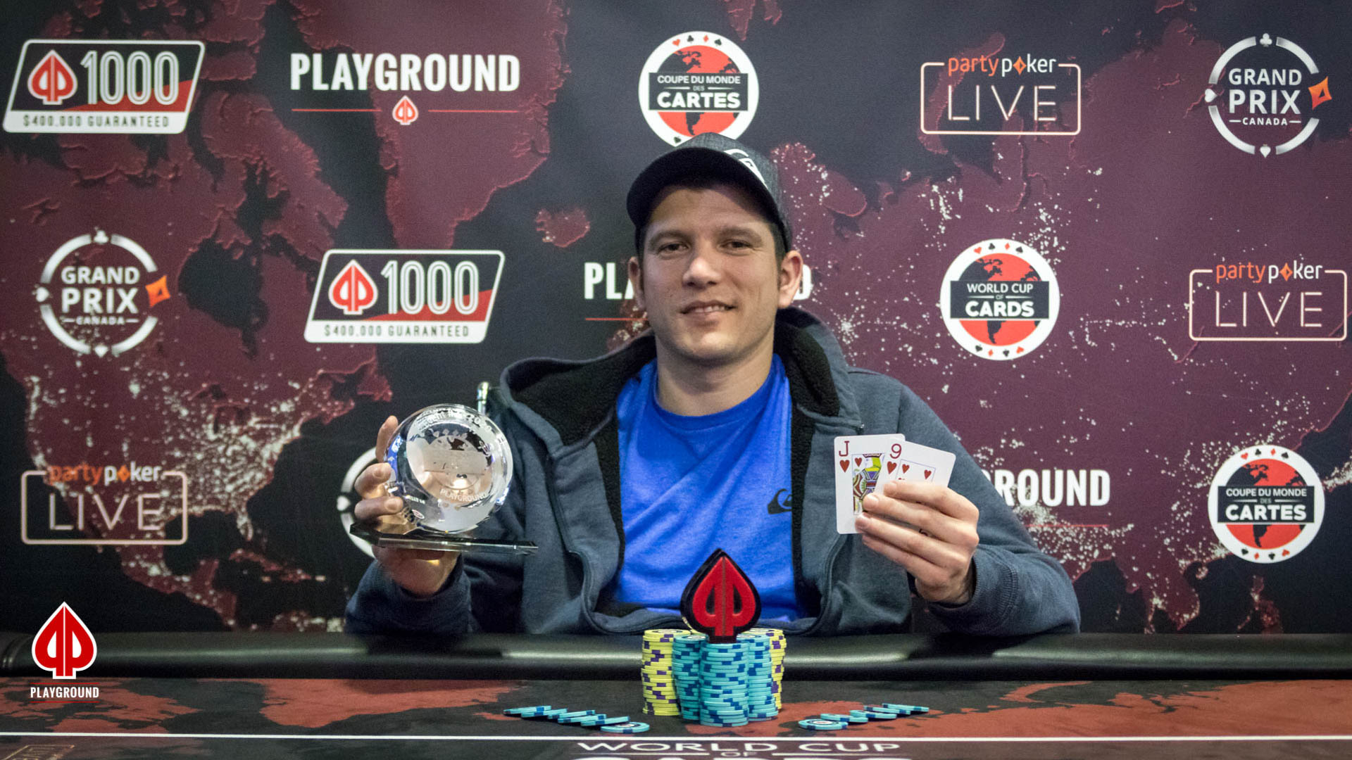 $100 + $10 Single Rebuy Champion: Olivier Lamarre