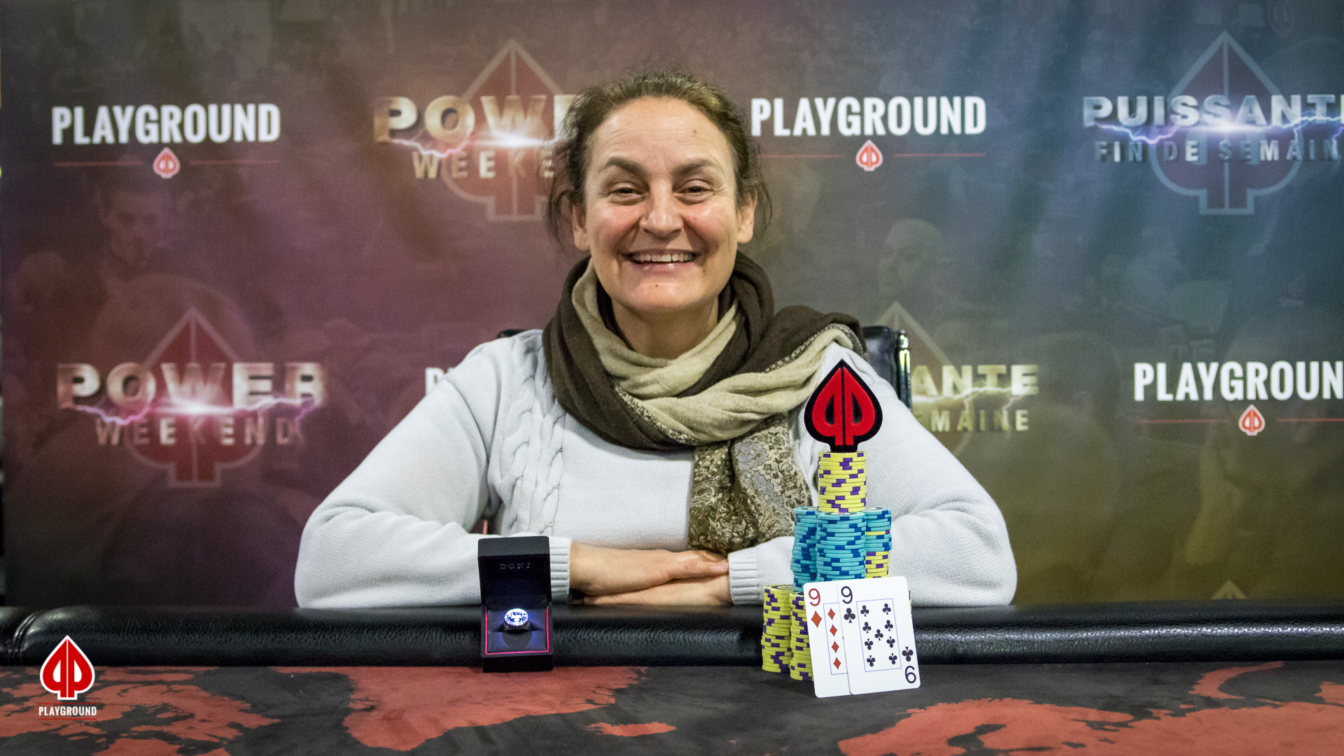 $100 + $10 Single Rebuy Champion: Ariel Sherker